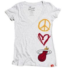 Peace Love Miami Heat Shirt