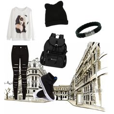 staying chilled x by djgeorgieh on Polyvore featuring polyvore fashion style Supra Sherpani John Hardy George J. Love