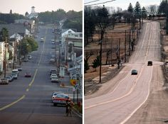 Centralia, PA. Before and after.