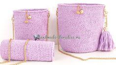 Стильная вязаная сумочка через плечо своими руками (2)