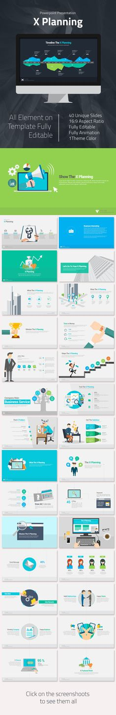 X Planning Powerpoint Presentation Template #slides #design Download: http://graphicriver.net/item/x-planning-powerpoint-presentation/11728403?ref=ksioks
