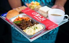 Meals by a Celebrity Chef: If you're headed to Fiji, you're in for a treat. Fiji Airways ensures culinary perfection in its business class created by Fiji-based celebrity chef Lance Seeto. Fiji Airways, First Class Flights, Best Airlines, Course Meal, Over The Top, Business Class, Celebrity Chef, Vegetarian Recipes, Treats