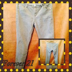 Comfy jeans Light grey , minimum stretch Forever 21 Jeans