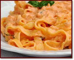 Ricette  >  Abruzzo  >  Primi: Fettuccine ai peperoni