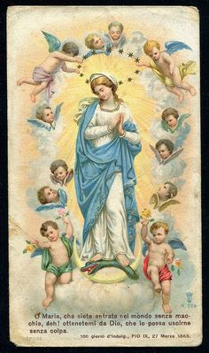 Virgem Maria e os Anjos