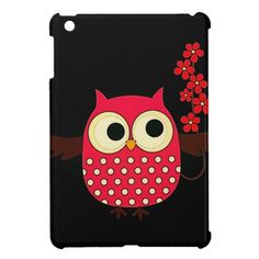 Girl Owl with Flowers Cover For The iPad Mini