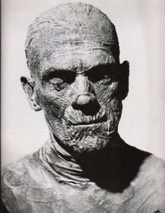 Boris Karloff - The Mummy. Asntime and technological advances were made the detail and finished designed followed. Pieces were a lot more complex yet still took a long time to apply