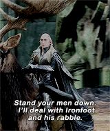 Admiral Eyebrows — darkastered: Thranduil in the Battle of the Five...