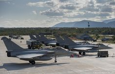 From 24 August to 5 September 2014, eleven French Armée de l'Air Dassault Rafale fighter jets participating in Exercise Arctic Thunder held on Banak Air Base, Norway.
