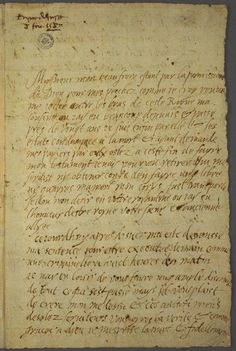 Mary, Queen of Scots last letter written before her execution. Click for the translation.