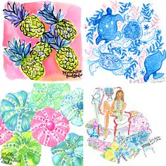 What's up with #Lilly5x5?! Well… every weekday we post an illustration (Sized 5 BY 5 and around 5 PM-ish) of daily inspiration painted in the Lilly Print Studio. Every Lilly print is hand-painted by our team of Print Designers in the Lilly Print Studio. We're truly ARTISTS at heart. #TBT to some of our all-time favorites.