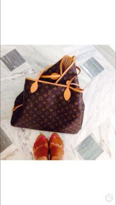 Neverfull Louis Vuitton Neverfull, Louis Vuitton Monogram, Footwear, Tote Bag, Pattern, Bags, Shoes, Handbags, Louis Vuitton Neverfull Damier
