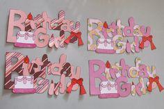 In My World . . .: Paper piecing: Birthday girl