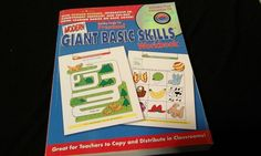 Getting Ready For Preschool Giant Basic Skills Workbook With Interactive CD