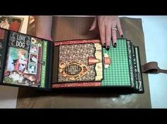 Tutorial Part 2a: Hidden Flaps, Pockets & Decorating My Twas the Night Before Christmas Mini Album - YouTube