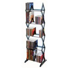 DVD rack option - Atlantic Mitsu 130 CD or 90 DVD and Blu-Ray Smoke 5-Tier Media Rack-64835195 - The Home Depot