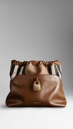 Burberry The Little Crush in House Check and Leather on shopstyle.co.uk