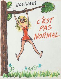 18 Wolinski c est pas normal Caricatures, Pas Normal, Georges Wolinski, Le Site, Bnf, Wallpaper S, Disney Characters, Fictional Characters, Illustration