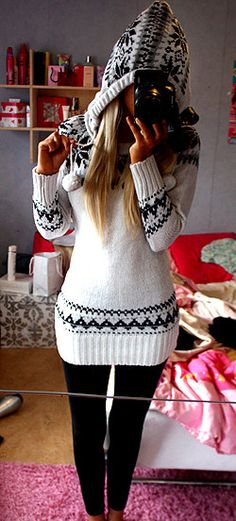 Such an adorable sweater dress! perfect for opening presents on christmas!