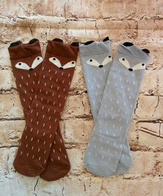 Fox Knee Socks (Toddler) - RoseGoldVintage.com