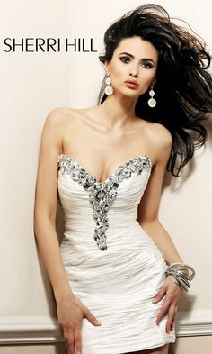 Short Strapless Sweetheart Ruched Dress SH-2931