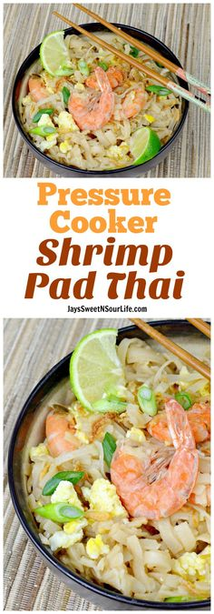 This one pot Pressure Cooker Shrimp Pad Thai is finger licking good. Made within minutes and packed with insane amounts of delicious flavor. (Fall Recipes)