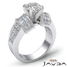 Natural Round Diamond Engagement Invisible Set Ring GIA G VS2 Platinum 2 96 Ct | eBay