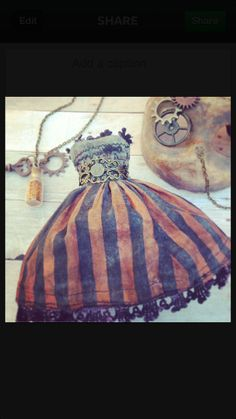 Steam Punk Blythe Dress by sweettoothblythe on Etsy - LOVE LOVE LOVE THIS