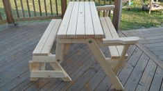 Folding picnic table bench can be found in wood, plastic and metal. Transform the furniture into something you need between bench or picnic table Folding Picnic Table Bench, Diy Bench, Outdoor Furniture Plans, Diy Garden Furniture, Kids Furniture, Woodworking Projects Diy, Woodworking Plans, Woodworking Classes, Woodworking Shop