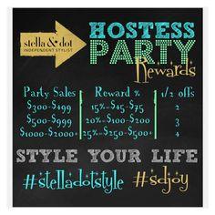 Hostess Party Rewards www.stelladot.com/TianaMead
