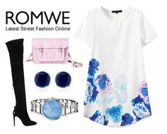 """""""R O M W E"""" by hippizza ❤ liked on Polyvore featuring Aquazzura, The Cambridge Satchel Company, CARAT*, Calvin Klein and romwe"""