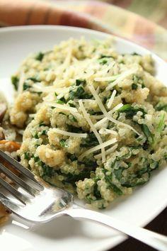Parmesan Spinach Quinoa
