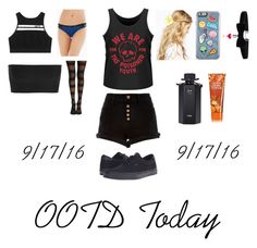 """OOTD~9/17/16"" by cassieee-m ❤ liked on Polyvore featuring River Island, Vans, ASOS, Victoria's Secret, Soma, Balmain and Gucci"
