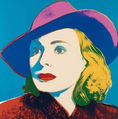 Andy Warhol - Portrait of Ingrid Bergman, 1983.