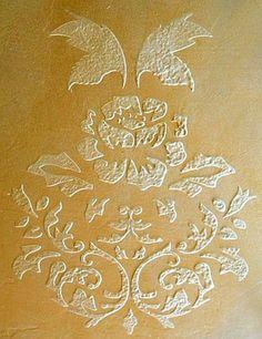 Raised Plaster Rose Damask Stencil Painting by SimplySpringDesigns, $15.99