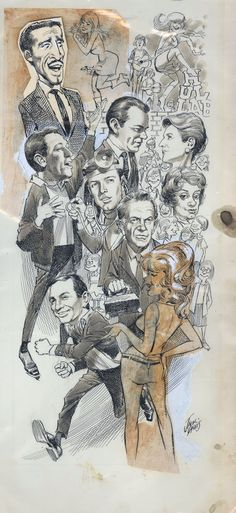 Awesome original art. Jack Davis with Mort Drucker pasted in. TV Guide