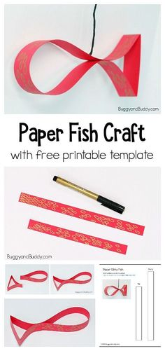 chinese new year easy paper fish craft for kids print out the free template pdf and make a