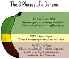 The 3 phases of a banana - http://funny.starboyonline.net/funny/the-3-phases-of-a-banana