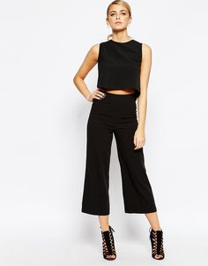 Image 1 of Boohoo Tailored cropped Pant