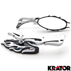 New Chrome FLAME OVAL CUSTOM Side Rear View Mirrors FOR HARLEY CRUISER CHOPPER | eBay Motors, Parts & Accessories, Motorcycle Parts | eBay!