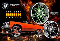 "DIABLO WHEELS SOLD HERE. CHECK OUT OUR H2 ON 32"" WHEELS. #BIgRims #AllAmericanAutoRestyling"