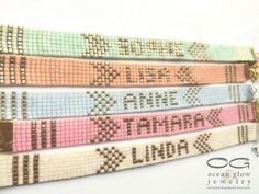 Name bracelet - friendship bracelet, beadloom bracelet, beaded bracelet, miyuki bracelet, personalised bracelet