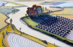 Wayne Thiebaud, Flatland River, 1997
