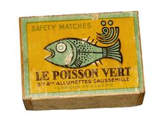 """the green fish"" matches Vintage packaging from Katwood"