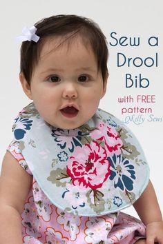 Sew a Drool Bib with a FREE baby bib pattern - Melly Sews #rileyblakedesigns #wiltshiredaisy #carinagardner