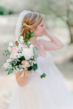 A fresh bridal bouquet. Photo by Nadia Meli www.wedsociety.com #wedding #disney #bouquet