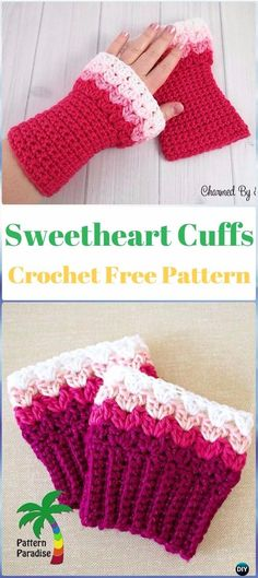 Crochet Sweetheart Boot Cuffs Free Pattern - Crochet Boot Cuffs Free Patterns