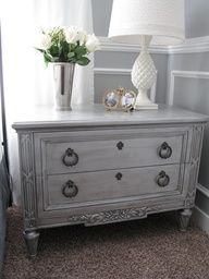 light gray painted furniture..hmmm Goodwill is calling my name