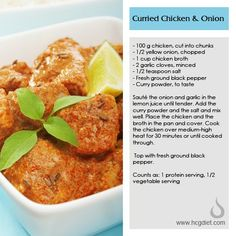 HCG approved curried chicken.