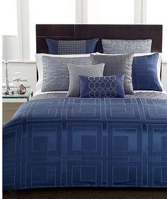 hotel collection quadre blue bedding collection only at macyu0027s hotel collection bedding macyu0027s